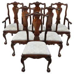 Bernhardt Centennial Collection Georgian Chippendale Mahogany Dining Chair Set 6
