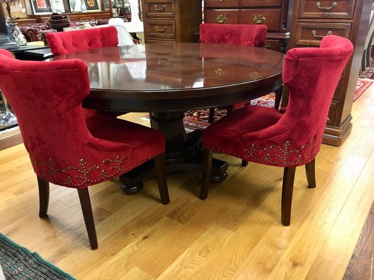 Bernhardt Dining Room Set Round Mahogany Table And