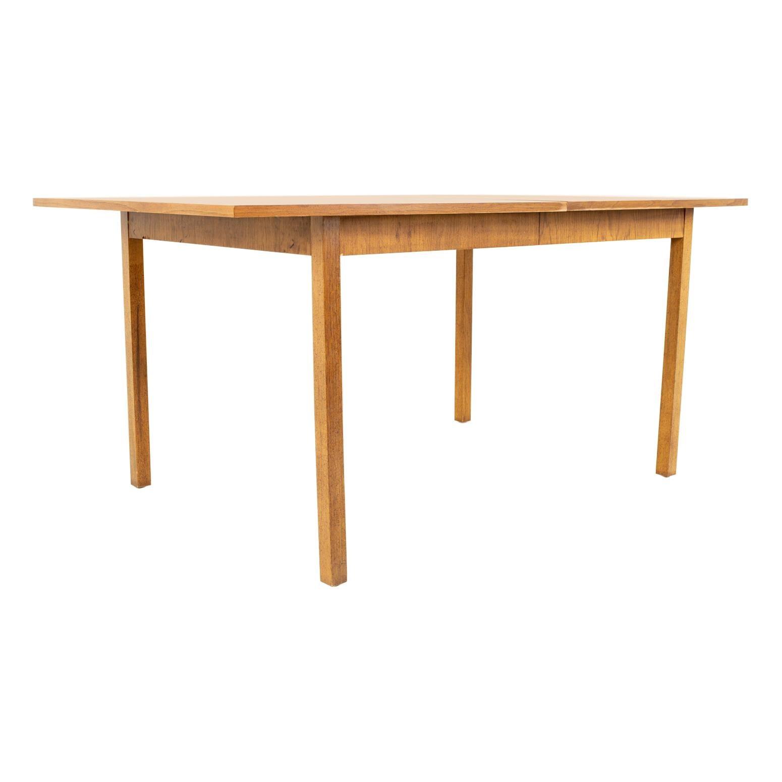 Bernhardt Furniture Mid Century Walnut Surfboard Dining Table