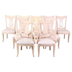 Bernhardt Mediterranean Style Harp Back Dining Chairs, Set of Ten