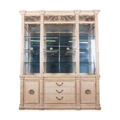 Bernhardt Mediterranean Style Lighted Breakfront Cabinet