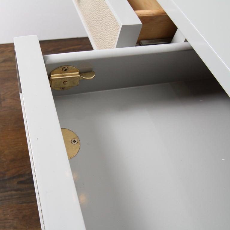 Bernhardt Salon Desk in Grey Lacquer For Sale 3
