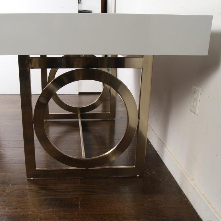 Bernhardt Salon Desk in Grey Lacquer For Sale 5