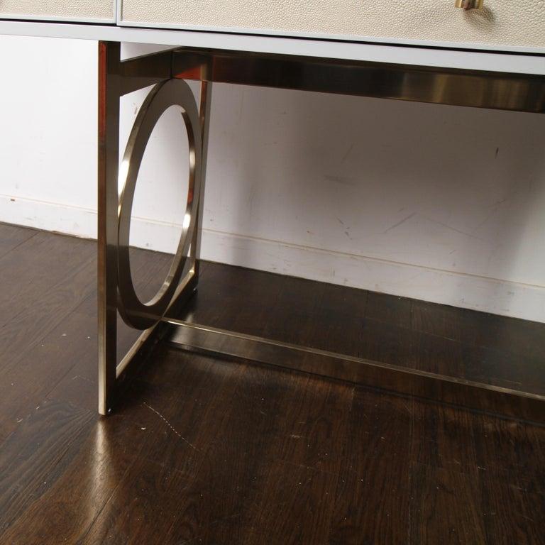 Bernhardt Salon Desk in Grey Lacquer For Sale 6