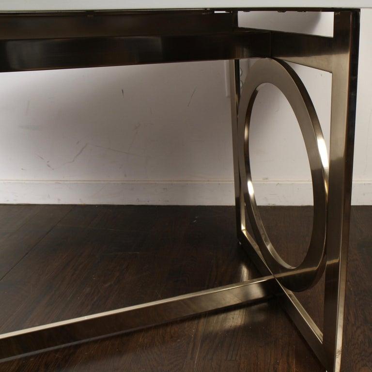 Bernhardt Salon Desk in Grey Lacquer In Good Condition For Sale In Darien, CT