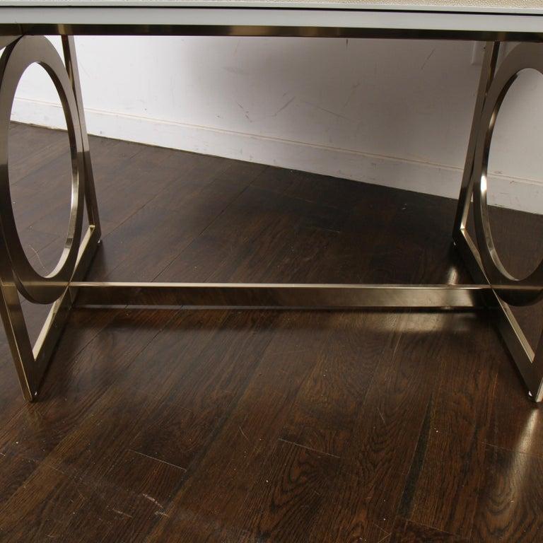 Contemporary Bernhardt Salon Desk in Grey Lacquer For Sale