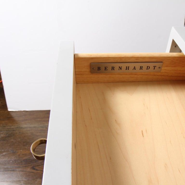 Bernhardt Salon Desk in Grey Lacquer For Sale 1