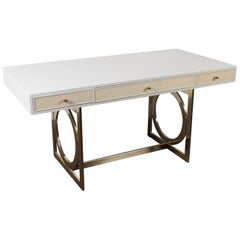 Bernhardt Salon Desk in Grey Lacquer
