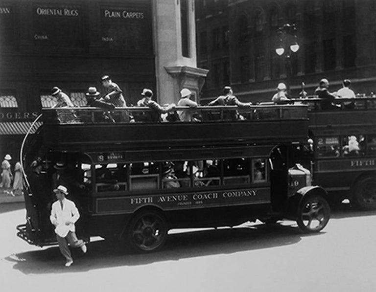 Bernice Abbott Black and White Photograph - Fifth Avenue Coach Company, New York