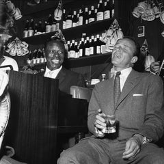 Nat 'King' Cole and Frank Sinatra, 1955