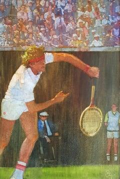 Blond Hair Tennis Player