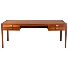 Bernt Petersen Danish Mahogany Writing Desk, circa 1960s