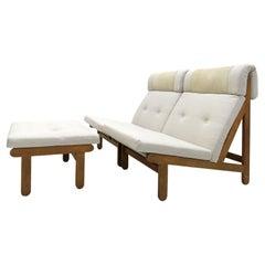 Bernt Petersen Lounge Chairs & Ottoman, 1970