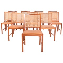 Bernt Petersen Mahogany Dining Chairs by Rud Rasmussen