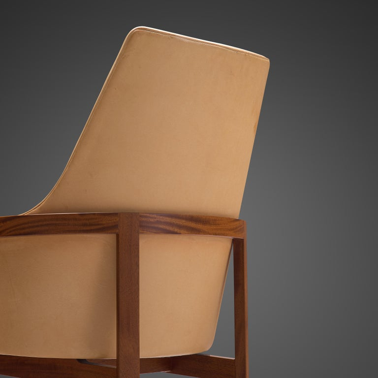 Scandinavian Modern Bernt Peterson for Søborg Møbelfabrik Set of Six Dining Chairs in Leather For Sale