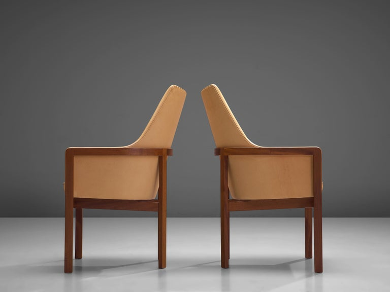 Bernt Peterson for Søborg Møbelfabrik Set of Six Dining Chairs in Leather For Sale 3