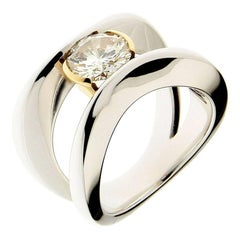 18 Karat Gold Berquin Certified 1.54 carat Diamond Brilliant Cut Solitaire Ring