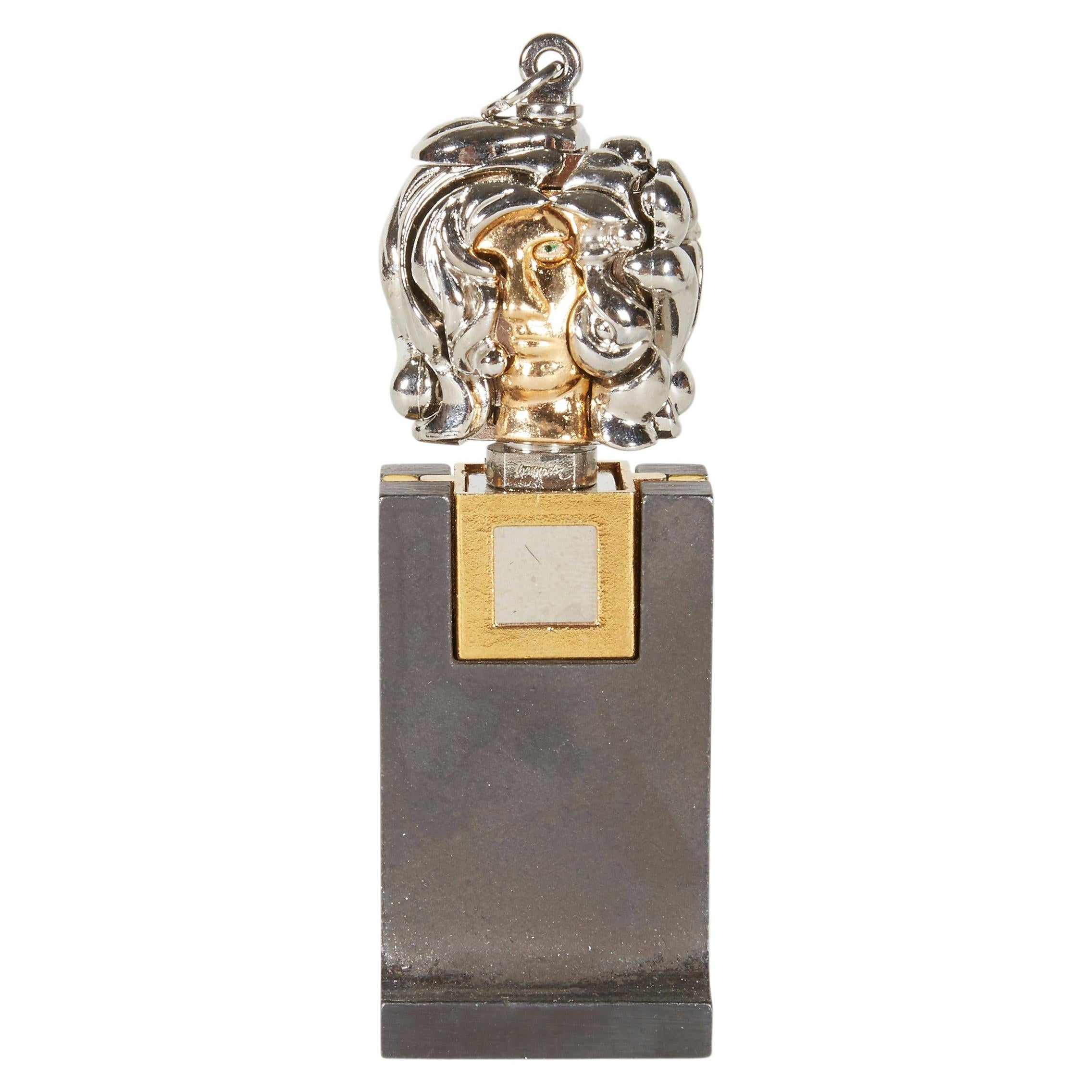 """Berrocal Micro """"Micheline X, Opus 139"""" Pendant Sculpture & Stand, Italy 1970s"""
