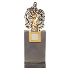 """Berrocal Micro """"Micheline X, Opus 139"""" Pendant Sculpture & Stand, Italy, 1970s"""