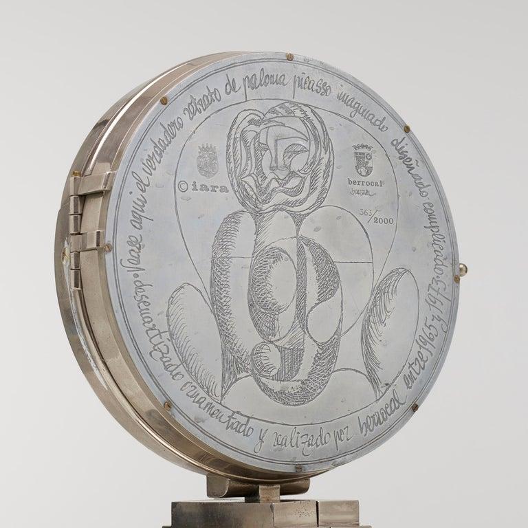 Modern Berrocal Paloma Jewelry Box and Retrato de Paloma For Sale