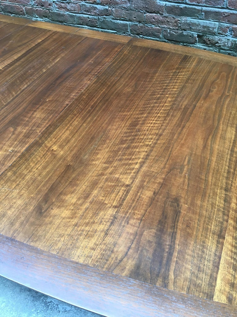 Bert England for Johnson Furniture Walnut and Brass Dining Table For Sale 9