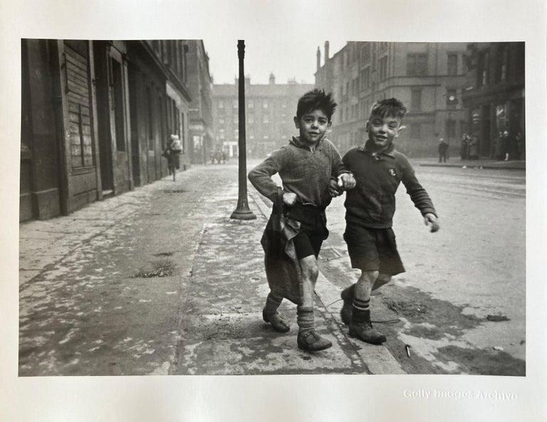 'Gorbals Boys' Bert Hardy Limited Edition Silver Gelatin Fibre Print - Realist Photograph by Bert Hardy