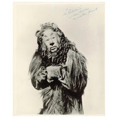 Bert Lahr Signed Black and White Photo as the Cowardly Lion in The Wizard of Oz