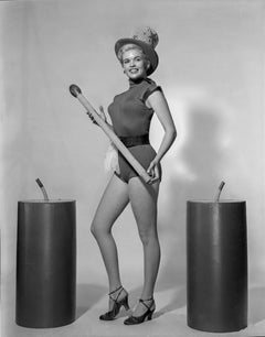 Jayne Mansfield Pinup with Candles Fine Art Print