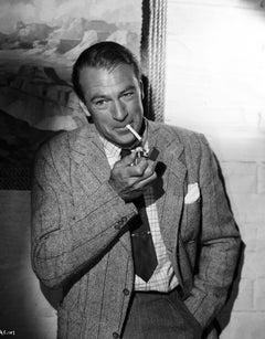 Gary Cooper Smoking a Cigarette Fine Art Print
