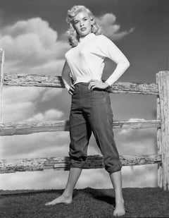 Jayne Mansfield Full Length with Fence Fine Art Print