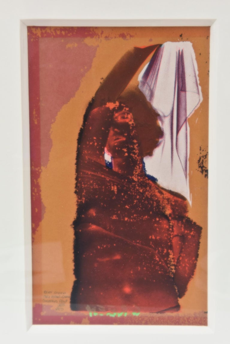 This signed Bert Stern silkscreen and serigraph of an abstract Marilyn Monroe is from 1962. It is marked Avant Garde Collectors Proof X111 Red. It has been newly and tastefully custom framed with a white shadow box and a deep ply white museum rag