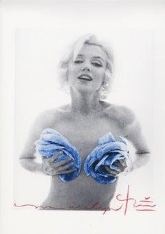 "Bert stern ""Marilyn Monroe gold apricot wink Roses"""