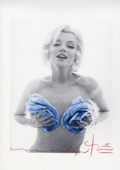 "Bert stern ""Marilyn Monroe gold Blue wink Roses"""