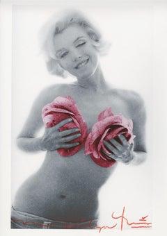 """Bert Stern """"Marilyn Monroe pink roses"""""""