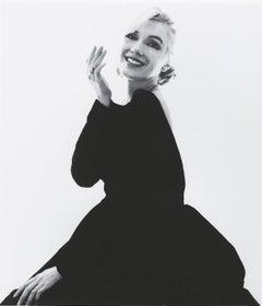 Bert stern Marilyn smiling at you in black dress