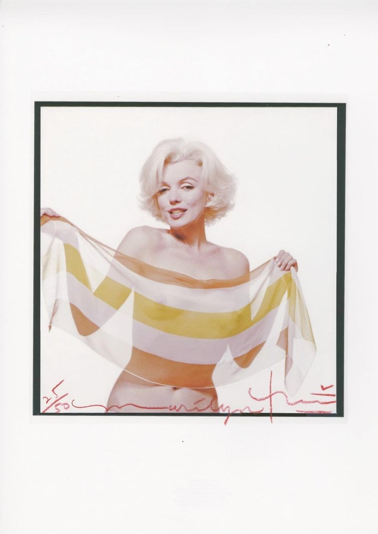 Bert Stern Portrait Photograph - Marilyn in the slanted scarf