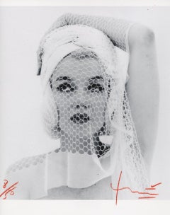 Marilyn Looking up in the Wedding Veil