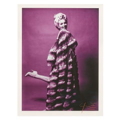 Marilyn Monroe - Bert Stern, Mauve Marilyn With Chinchilla In Heels -Signed