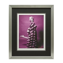 Marilyn Monroe - Bert Stern Mauve Marilyn With Chinchilla In Heels (Signed)