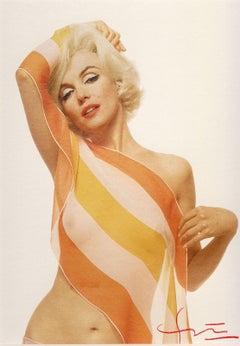 Marilyn Monroe / Striped Scarf (Bert Stern photo taken six weeks before death)