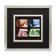 Marilyn Monroe Contact Sheet By Bert Stern -The Last Sitting (Colour & Signed)