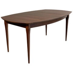 Bertha Schaefer for M. Singer & Sons Walnut Extension Dining Table