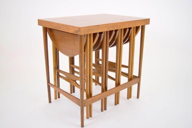 American Bertha Schaefer for Singer & Sons Walnut Nesting Table Set For Sale