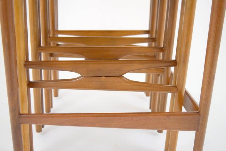 Mid-20th Century Bertha Schaefer for Singer & Sons Walnut Nesting Table Set For Sale