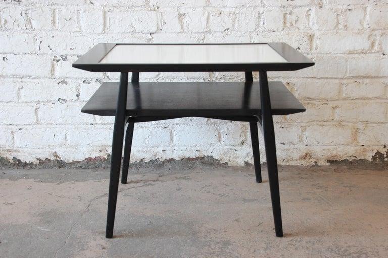 Bertha Schaefer for Singer & Sons Ebonized Mid-Century Modern End Tables, Pair For Sale 4