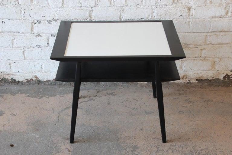 Bertha Schaefer for Singer & Sons Ebonized Mid-Century Modern End Tables, Pair For Sale 5