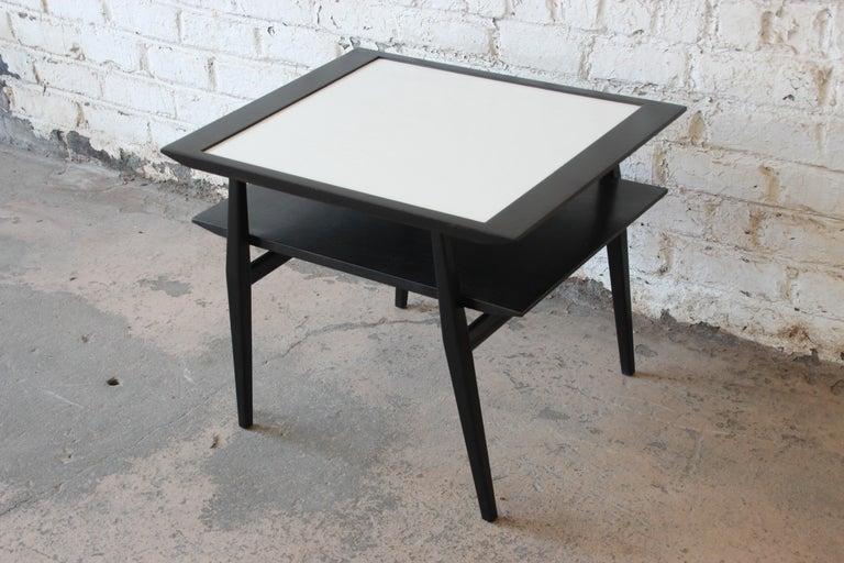 Bertha Schaefer for Singer & Sons Ebonized Mid-Century Modern End Tables, Pair For Sale 6