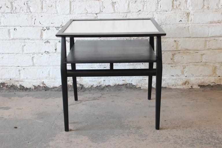 Bertha Schaefer for Singer & Sons Ebonized Mid-Century Modern End Tables, Pair For Sale 7