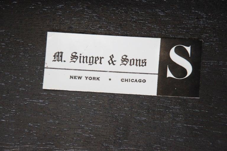 Bertha Schaefer for Singer & Sons Ebonized Mid-Century Modern End Tables, Pair For Sale 8