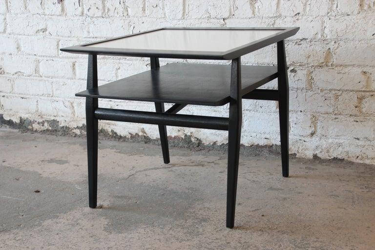 Bertha Schaefer for Singer & Sons Ebonized Mid-Century Modern End Tables, Pair For Sale 3
